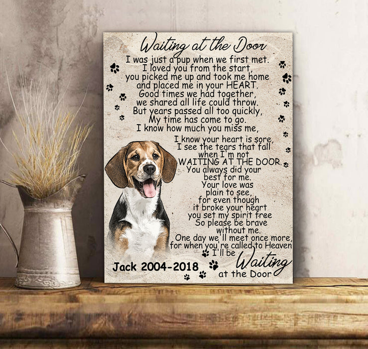 Custom personalized dog memorial photo to canvas print wall art Pet remembrance gift idea for dog mom dad pet lovers owner - Forever In My Heart - PersonalizedWitch Valentines day gifts for him