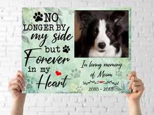 Custom personalized dog memorial canvas print wall art Pet remembrance gift idea for dog mom dad pet lovers owner - In Loving Memory of Dog - PersonalizedWitch