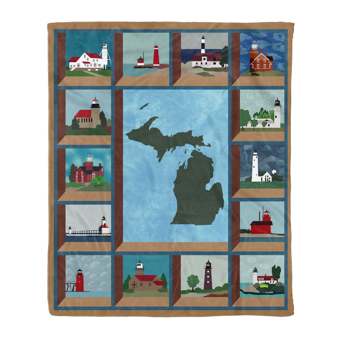 Fleece Blanket Mother's day Father's day unique gift ideas for mom & dad from daughter & son kids, meaningful birthday presents -  In The Deep Heart Of Michigan Fleece Blanket