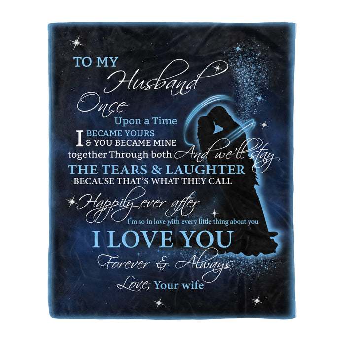 Fleece Blanket Mother's day Father's day unique gift ideas for mom & dad from daughter & son kids, meaningful birthday presents -  To My Husband Fleece Blanket unique gift husband gift
