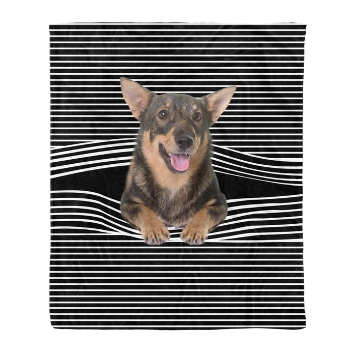 Fleece Blanket Mother's day Father's day unique gift ideas for mom & dad from daughter & son kids, meaningful birthday presents -  Swedish Vallhund Stripe Fleece Blanket, Unique Gifts For Dog Lovers, Best Friend, Parents