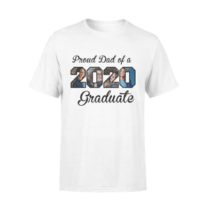 Custom Upload Photo - Proud Dad of 2020 Graduate - Trending custom personalized tee, graduation 2020 gift idea, family gift tee shirt
