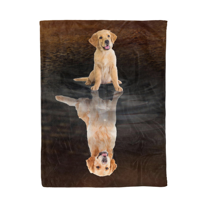 Fleece Blanket Mother's day Father's day unique gift ideas for mom & dad from daughter & son kids, meaningful birthday presents -  Golden Retriever Dreaming Fleece Blanket, Unique Gifts For Dog Lovers, Best Friend, Parents