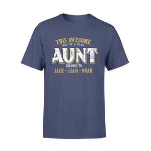 Custom personalized aunt & mom Tee shirts printing mother's day, birthday gift for world's best mom - Awesome Aunt Belongs To - PersonalizedWitch