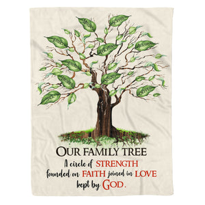 Custom personalized fleece blankets Mother's day Father's day gifts idea, Christmas, birthday presents for mom, dad, the whole family - Family Tree - PersonalizedWitch