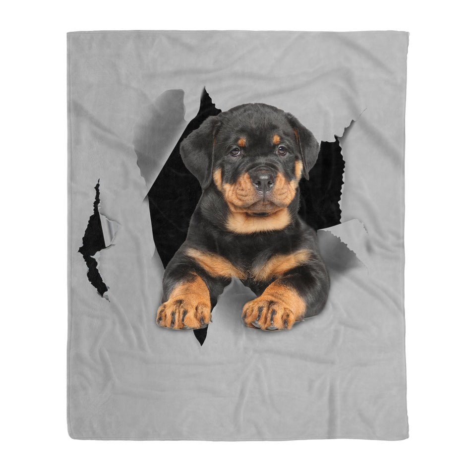 Rottweiler Fleece Blanket - Dog lovers, dog gift, birthday gift, pet, pet lovers, animal