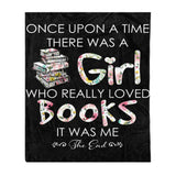 I Love Books Fleece Blanket - Book fleece blanket book lover gift birthday gift idea