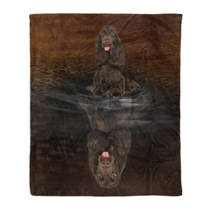 Dog & owners fleece blanket Pet remembrance gift idea for the whole family, dog lovers, dog dad mom - You Are Stronger Than You Think Field Spaniel - Dog blanket dog lover gift idea family gift - PersonalizedWitch