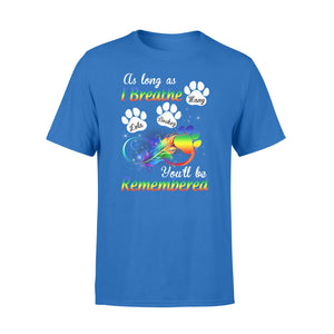 Custom personalized cat memorial T Shirts Pet remembrance tee gifts for cat mom dad pet lovers - Cats Will Be Remembered  - Personalizedwitch