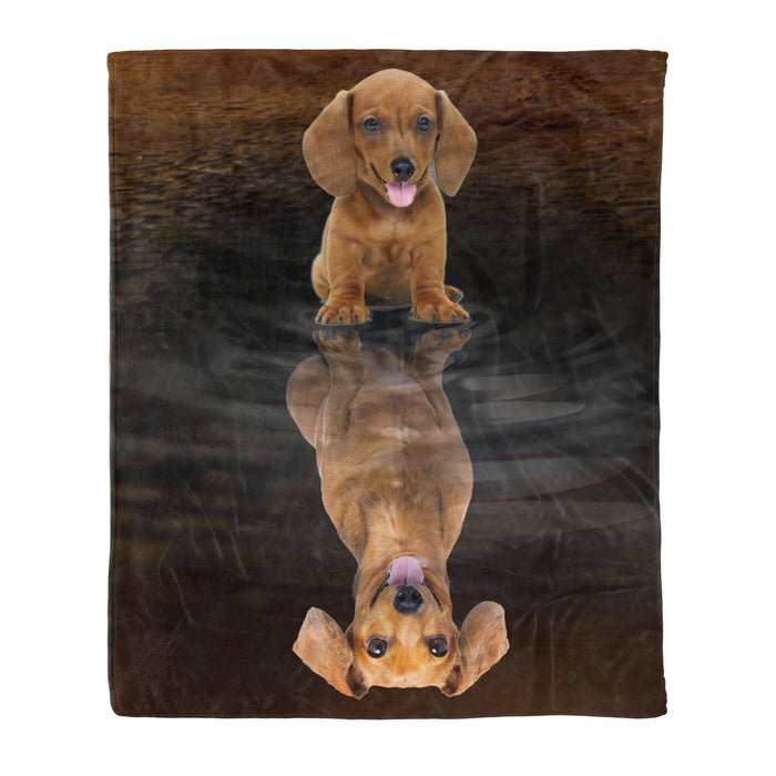 Dachshund Dreaming Fleece Blanket, Unique Gifts For Dog Lovers, Best Friend, Parents