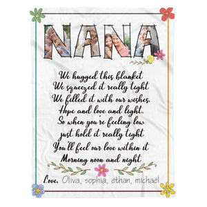 Love Nana - Personalized gifts mother's day father's day ideas custom gift blanket