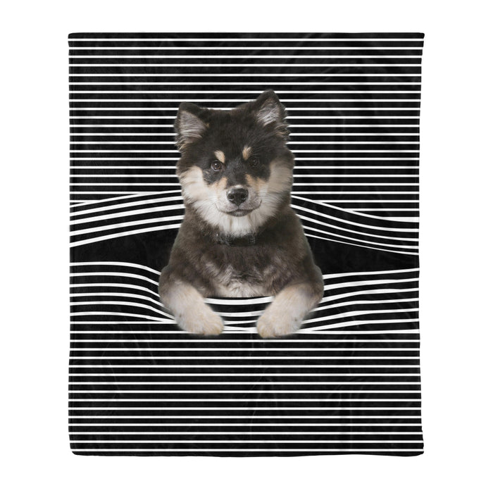 Fleece Blanket Mother's day Father's day unique gift ideas for mom & dad from daughter & son kids, meaningful birthday presents -  Finnish Lapphund Stripe Fleece Blanket, Unique Gifts For Dog Lovers, Best Friend, Parents