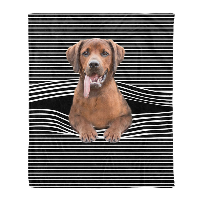 Fleece Blanket Mother's day Father's day unique gift ideas for mom & dad from daughter & son kids, meaningful birthday presents -  Redbone Coonhound Stripe Fleece Blanket, Unique Gifts For Dog Lovers, Best Friend, Parents