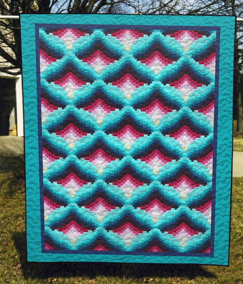 Amish Light In The Valley Optical Illusion - Quilt Blanket