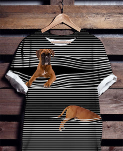 Boxer Striped - Tshirt for dog mom, gift for dog mom, dog lovers, dog daddy.