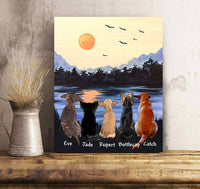 Custom personalized dog canvas Pet remembrance print gift idea for dog mom dad pet lovers - Mountain View - PersonalizedWitch