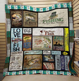 Eat Sleep Fish Fishing - Quilt Blanket