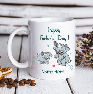 Happy Farter's Day Elephant - Personalized custom mug Father's Day gift mug Father gift idea family gift