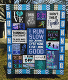 Everyday Is A Good Day When Running - Quilt Blanket