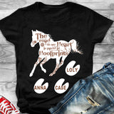 Custom Personalized Name Horse Funny T Shirts Gift for horse owners lovers racing girls - Hoofprints - PersonalizedWitch