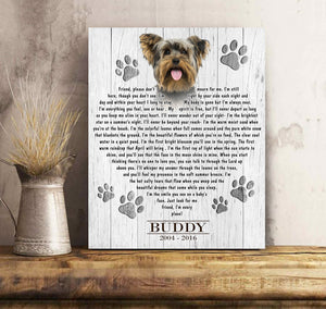I'm Still Here - Custom Photo Canvas Print Memorial Gift, Dog Gift, Family Gift Idea, Dog Lovers