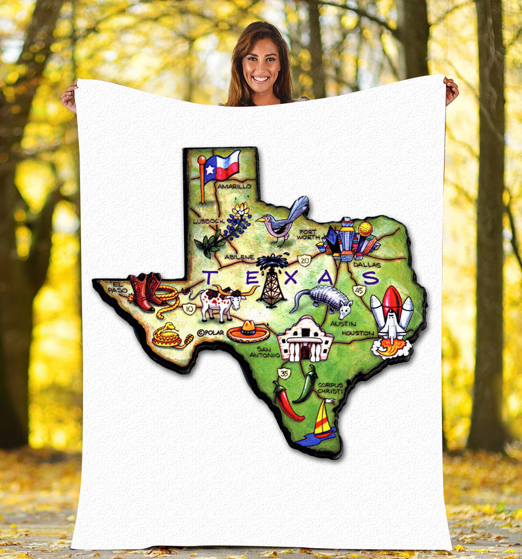 Love Texas - Fleece Blanket