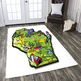 Love Wisconsin Rectangle Rug