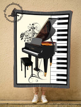 Load image into Gallery viewer, Love Piano Fleece Blanket