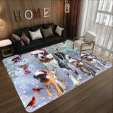 Memorial Winter With Great Dane Rectangle Rug