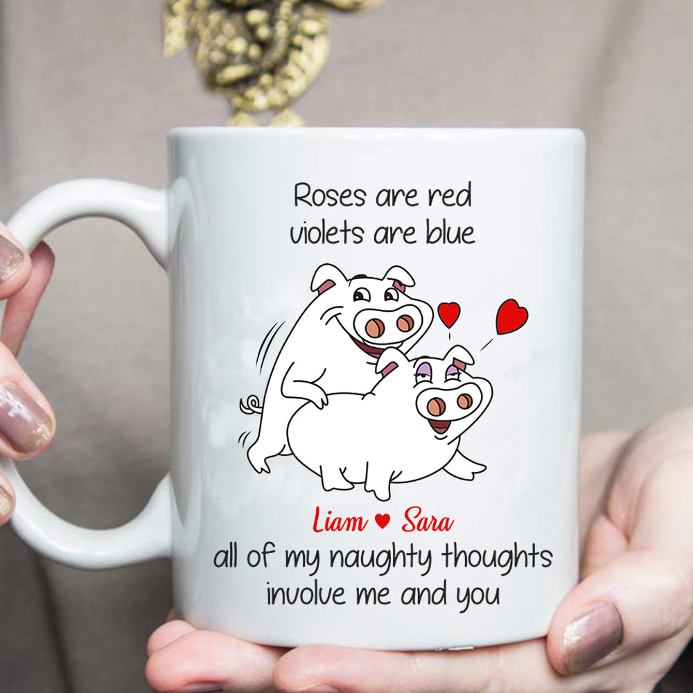 Custom personalized couple coffee mugs wife gifts idea, Christmas, wedding anniversary birthday presents for loved one - Best Couples Funny - PersonalizedWitch