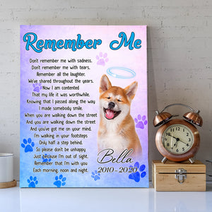 Remember Me - Trending Personalized Custom Canvas, Family Gift Idea, Dog Lover Gift, Father Gift