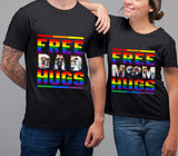 Custom personalized photo T shirts printing Mother's day gifts idea, pictures on tee, Christmas, birthday presents for mom - Free Mom Hugs LGBT - PersonalizedWitch