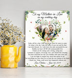 Custom personalized photo to canvas prints wall art Mother's day gifts idea, pictures on canvas Christmas, birthday presents for mother in law - Thank You Mother In Law On Wedding Day - PersonalizedWitch