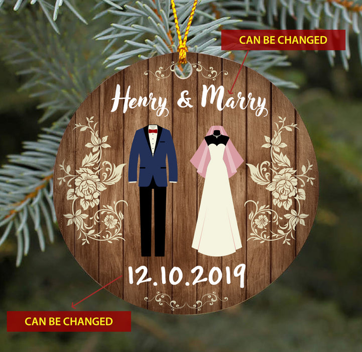 Mr & Mrs TY218 - Personalized Family Ornament Couple Gift Custom Christmas Accessories