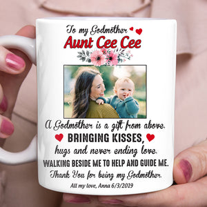 Custom personalized coffee mugs Mother's day gifts idea, Christmas, birthday presents for mom from daughter - Godmother Gift From Above - PersonalizedWitch