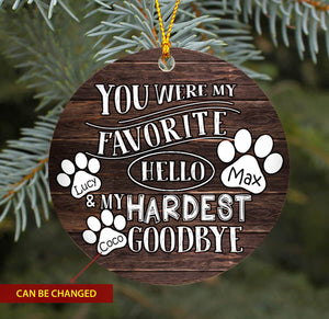 Dogs Hello Goodbye TY1910 - Personalized Dog Ornament Dog Lover Memorial Gift Custom Christmas Pet Lover Accessories