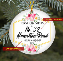 Load image into Gallery viewer, First Christmas At New Home TY409 - Personalized Family Ornament Friend Gift Custom Christmas Accessories