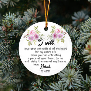 Mother of Groom/Bride Thanks TY409 - Personalized Family Wedding Ornament Mother Of Groom Bride Gift Custom Christmas Accessories