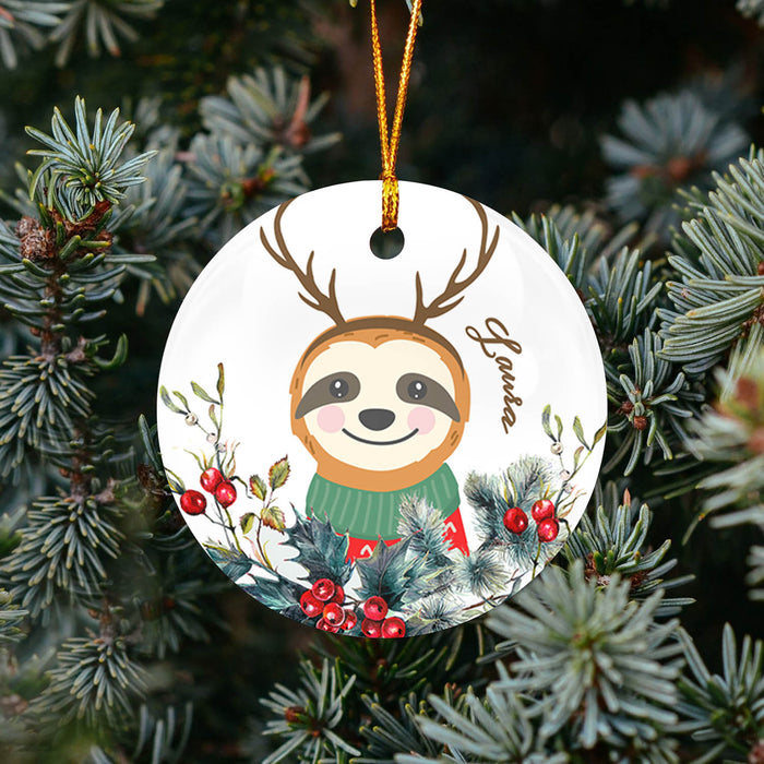 Sloth Cute TY268 - Personalized Family Ornament Sloth Lover Gift Custom Christmas Sloth Lover Accessories