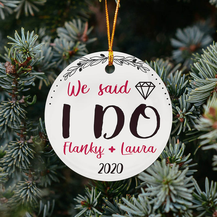 We Said I Do TY258 - Personalized Family Ornament Couple Gift Custom Christmas Accessories