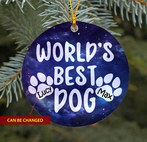 World's Best Dogs TY1910 - Personalized Dog Ornament Dog Lover Memorial Gift Custom Christmas Pet Lover Accessories