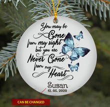 Load image into Gallery viewer, You Are Never Gone From My Heart TY189 - Personalized Family Ornament Family Friends Memorial Gift Custom Christmas Accessories