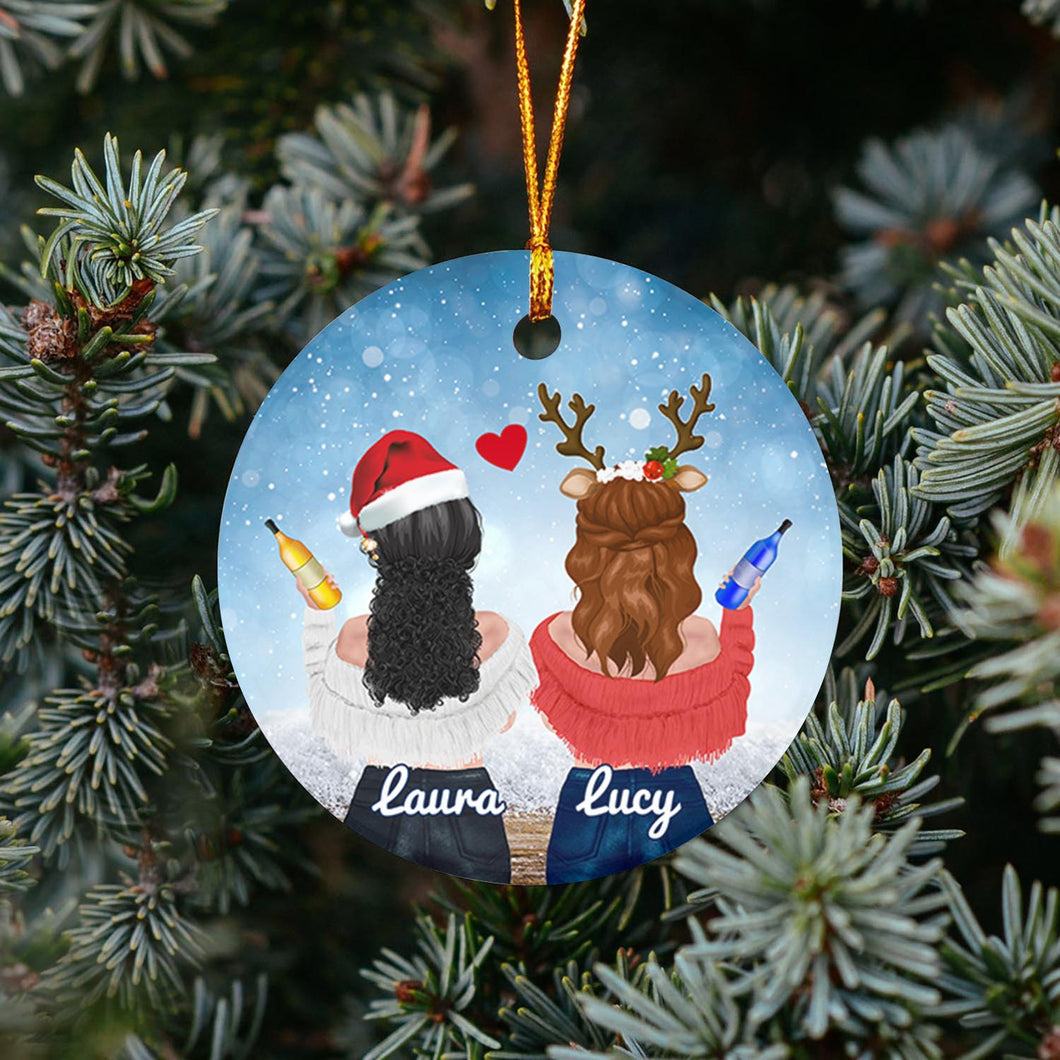 Sister Love TY318 - Personalized Family Ornament Family Friends Memorial Gift Custom Christmas Accessories