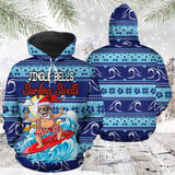 Santa Surfing T2010 - All Over Print Unisex Hoodie