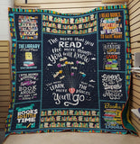 The More You Read, The More Things You Know Reading Book - Quilt Blanket