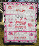 The Pink Flamingo - Quilt Blanket