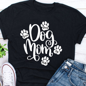 Custom Personalized Dog Mom T Shirts Gift for dog owners lovers Mother of Dogs - Dog Mom - PersonalizedWitch