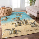 Turtle Thank You Rectangle Rug