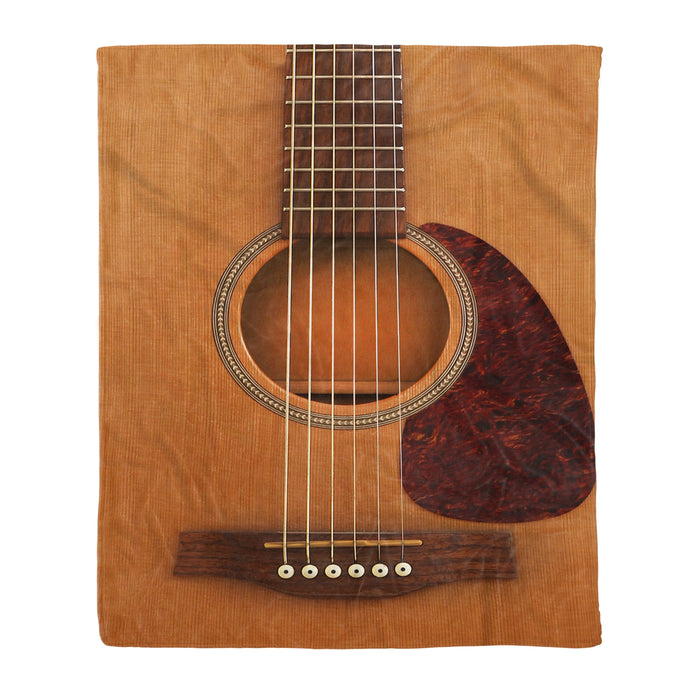 Fleece Blanket Mother's day Father's day unique gift ideas for mom & dad from daughter & son kids, meaningful birthday presents -  Wooden Guitar Fleece Blanket