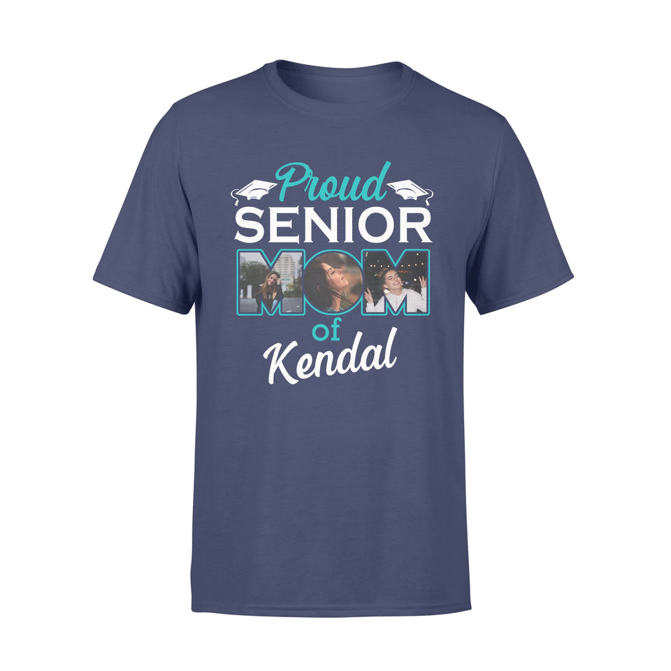 Custom personalized photo T Shirts family gifts for graduate, best graduation gifts for her & him, best friends & graduated class - Proud Senior Mom- Personalizedwitch